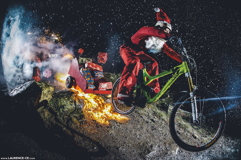 Trail blazing Santa Claus out this Christmas to deliver all your bicycle presents. Wishing all you all a massive Merry Christmas and festive holidays! - Laurence CE - www.laurence-ce.com
