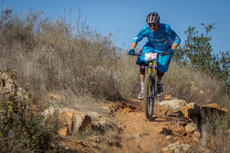 Joe getting after it on Stage 3 .Joe ended the day 3rd Overall in the Pro Mens class