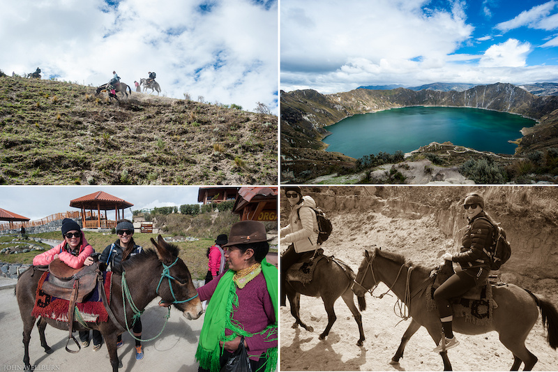Eran hooked us up with one of the tours his company does a horseback mission into the extinct volcanic crater lake Quilotoa.