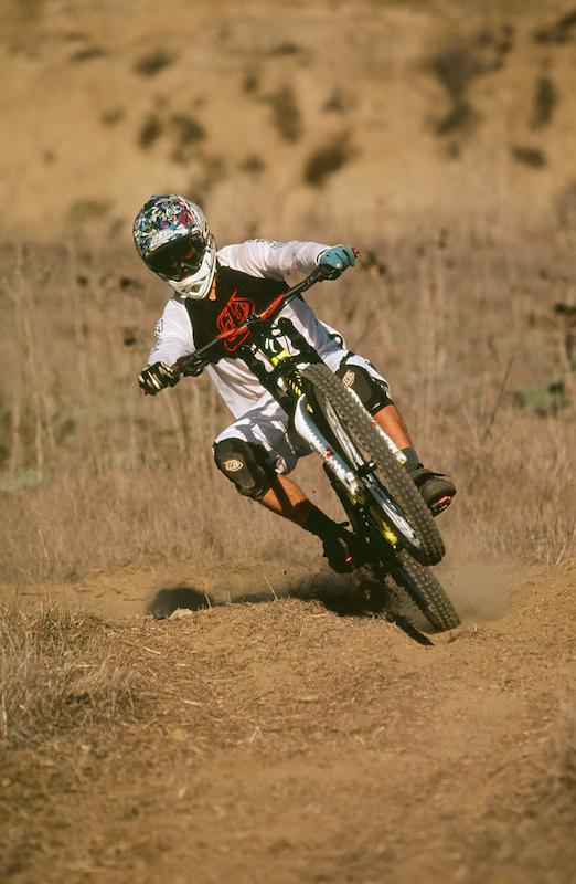riding the moto rut track