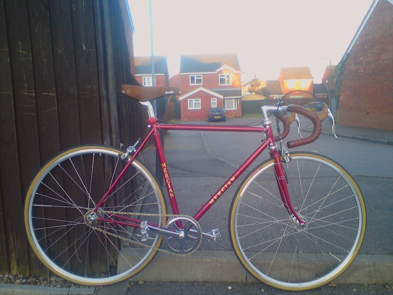 My last road bike was this.   70's Mercian Strada Speciale conversion. Miss it badly now.