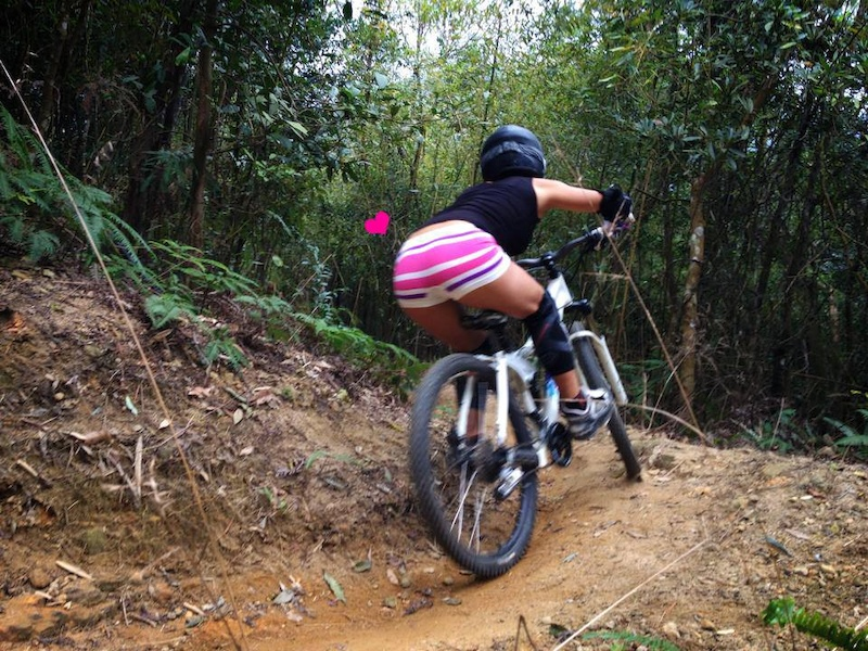 DH ride during winter in the tropical weather area, a pretty undie is essential. For MTB girl who rocks.