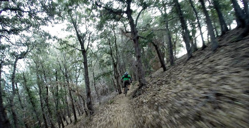Epic single-track end to end...