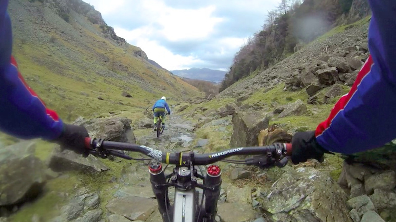 The Graveyard descent from Castle Crag Lake District