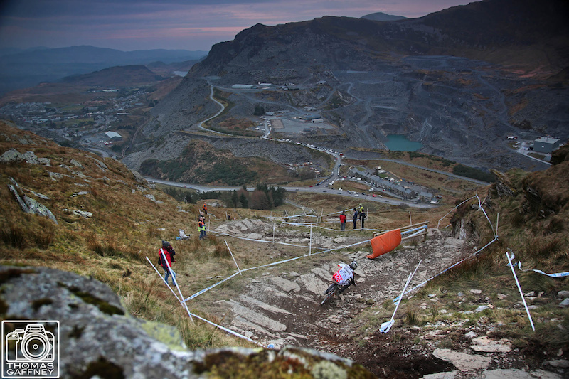 Images from round one of the British Downhill Series at Antur Stiniog for more go to Roots and Rain and search Tom Gaffney or go to www.thomasgaffneyphotography.com