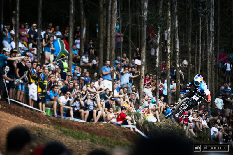 Loic Bruni flying in through the line.