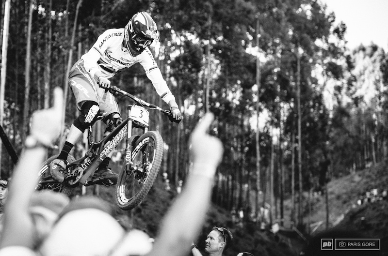 Greg Minnar s One Life fans were in full force at the bottom of the track in full support of their local World Champion.