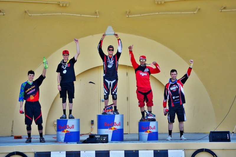 Pro Men s podium with Neko taking 1st Logan in nd and Mauricio in 3rd. photo by Brice Shirbach