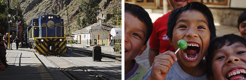 Passing some youth on the way to Machu Picchu. These kids were excited about life to say the least.