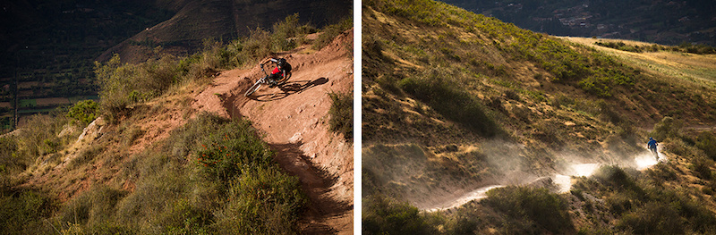 Nothing but berms jumps and open straight away dropping into the Sacred Valley.