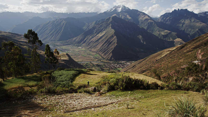 As we descended around a corner on the road from Cusco to Machu Picchu this was our first glimpse of the Sacred Valley. Amazing view