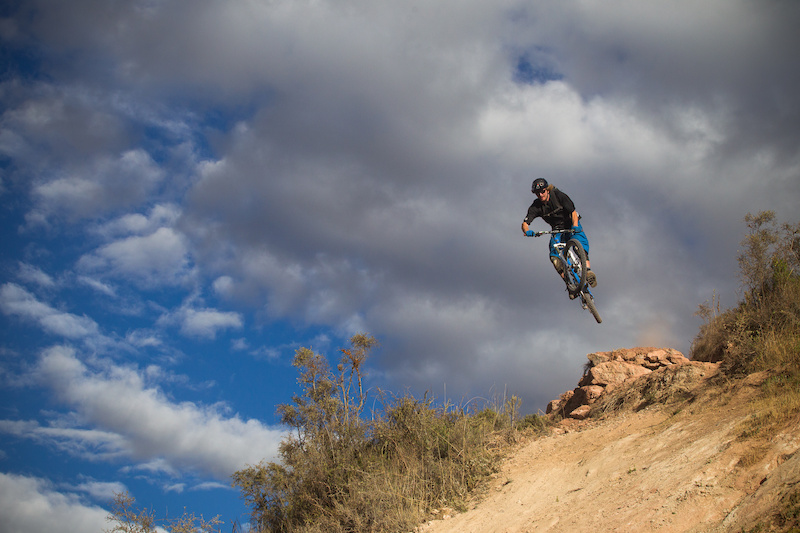 Finding a full on jump trail on this trip was something no one expected but Garrett took full advantage.