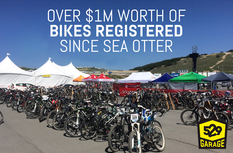 Project 529 parked and registered over half a million dollars worth of bikes at the Specialized Valet Bike Parking at Sea Otter. That s a helluva lot of trust.