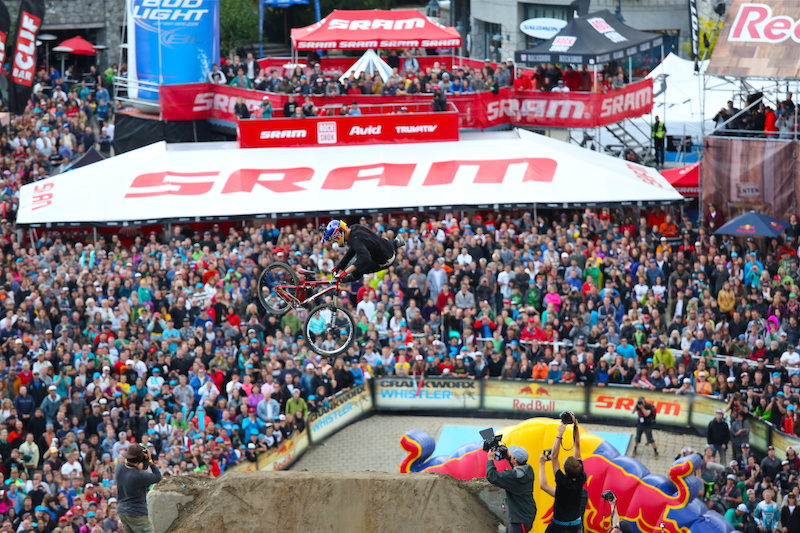 Martin goes for the win at Red Bull Joyride in 2013 but ended 2 nd and a broken Tib Fib