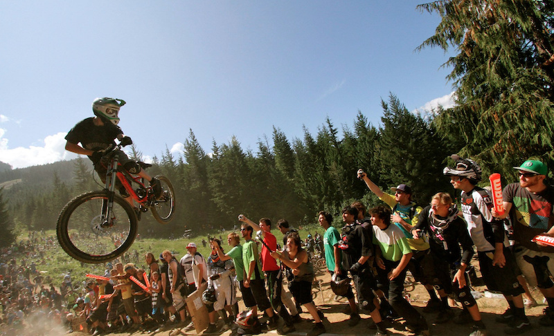 Mark gets sideways for the crowd during the World Whip Offs.