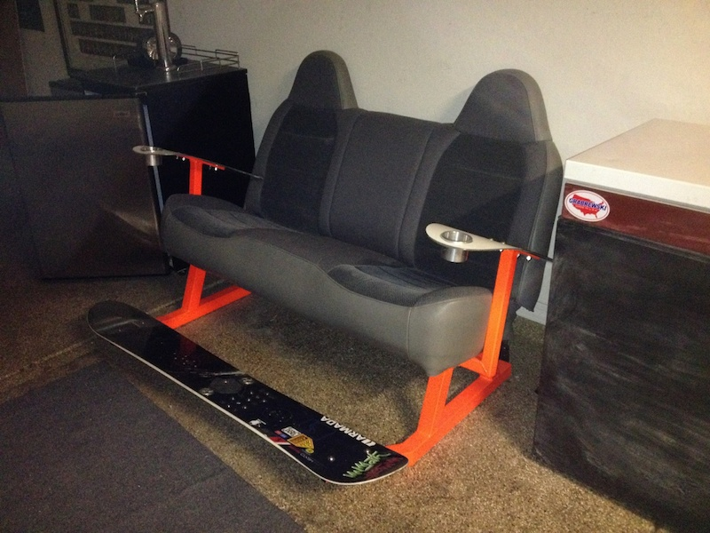 Snowboard Couch and Wakeboard Bench For Sale