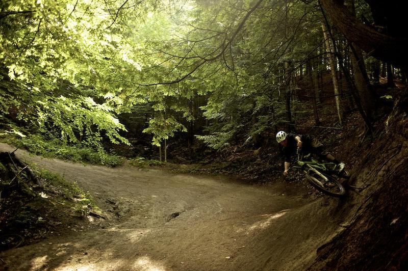 Rider David Smutok. Trail Perry Hill Trails - Rasta Man. Location Waterbury VT photo by Bear Cieri Waterbury VT 8 8 11