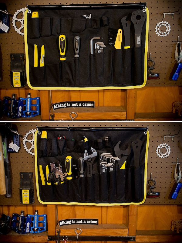 Top What is included with the Starter Kit. Bottom Loaded up with additional tools.