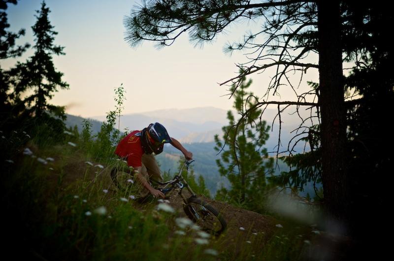 Sunrise rides above Leavenworth WA