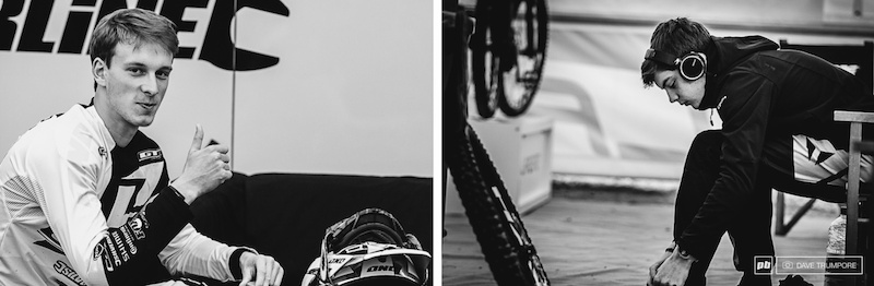 Martin Maes may have beaten Loris today in a World Cup DH but Loris beat Martin in an EWS race last year so as far as we can reckon they are even regardless of racing discipline.