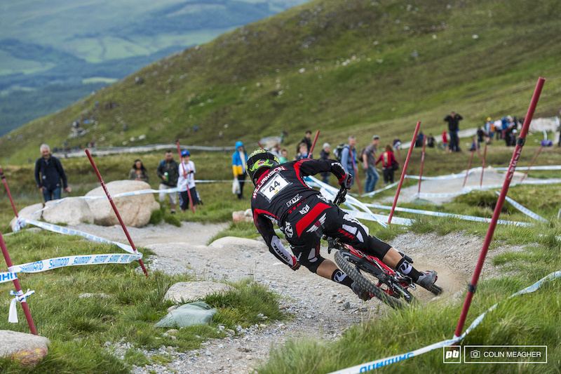 Greg Williams of Trek had a rubbish run yesterday qualifying 64th but a baller run today coming home 9th in the final.