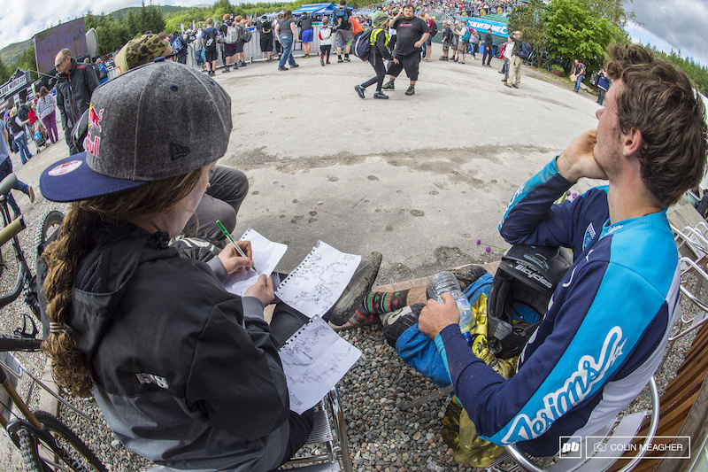 treasuremap Some riders visualize the course to help them memorize critical sections Jill Kintner prefers to map it out in pen and ink.