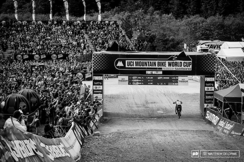 History in the making. Troy Brosnan qualified first yesterday. The young Aussie took his first pro World Cup win today besting former team mate Sam hill by 1.659 seconds.