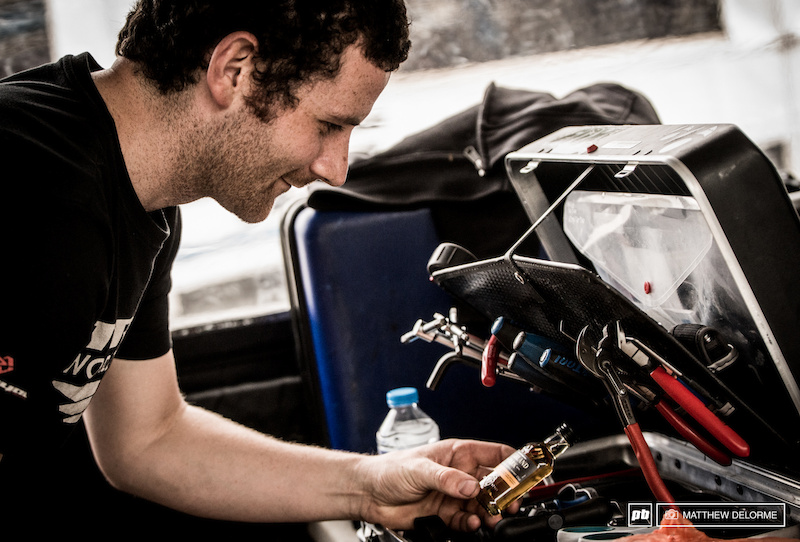 TWR mechanic Ben Arnott finds just the thing in his tool box to complete a job well done.