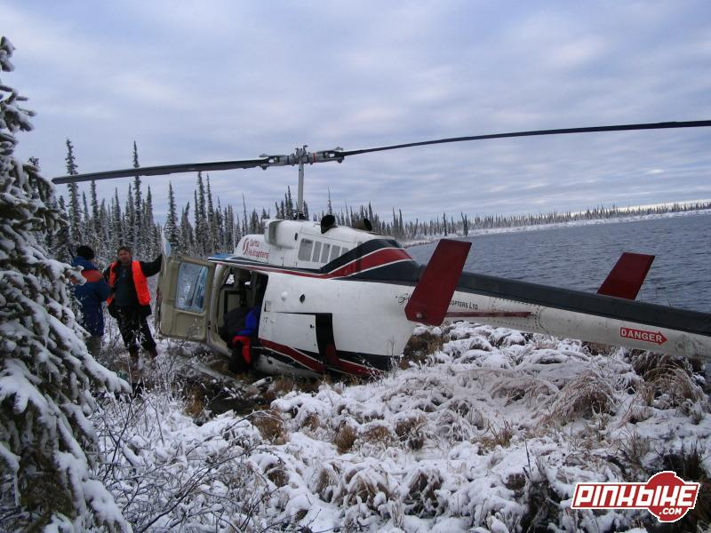 This is the back end of the heli that i was in after we crashed. SOOOOO scetchy!