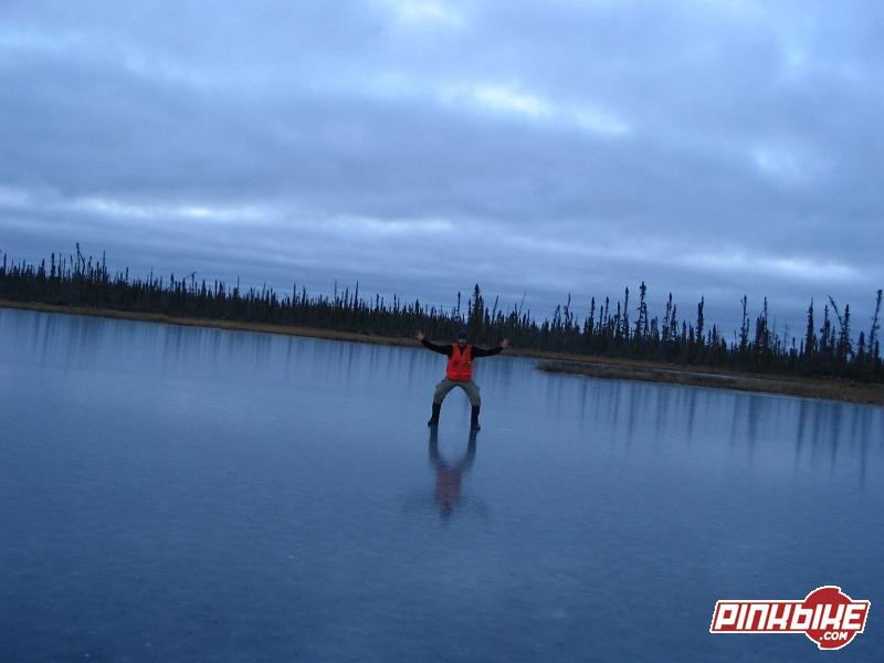 Freeze over in the artic, was a cool thing. There are thousands of lakes and they all freeze like this in early season.