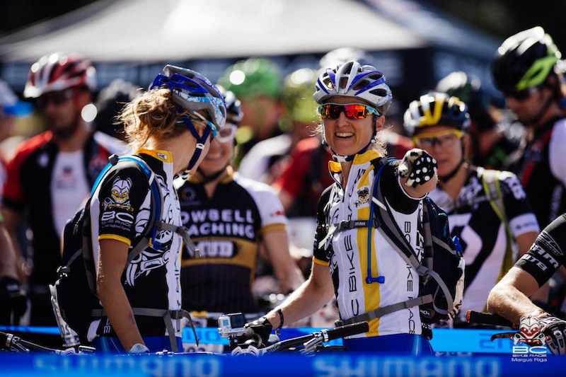 Catharine Pendrel Luna Chix has returned to the BC Bike Race with a new teammate.