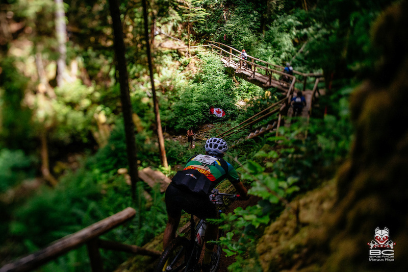 Dropping into the trail before the new Aloha section.
