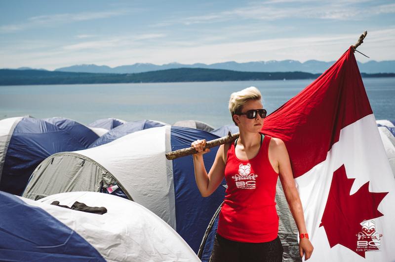 BCBR volunteer Kezia Nathe strikes a fierce pose on Canada Day.