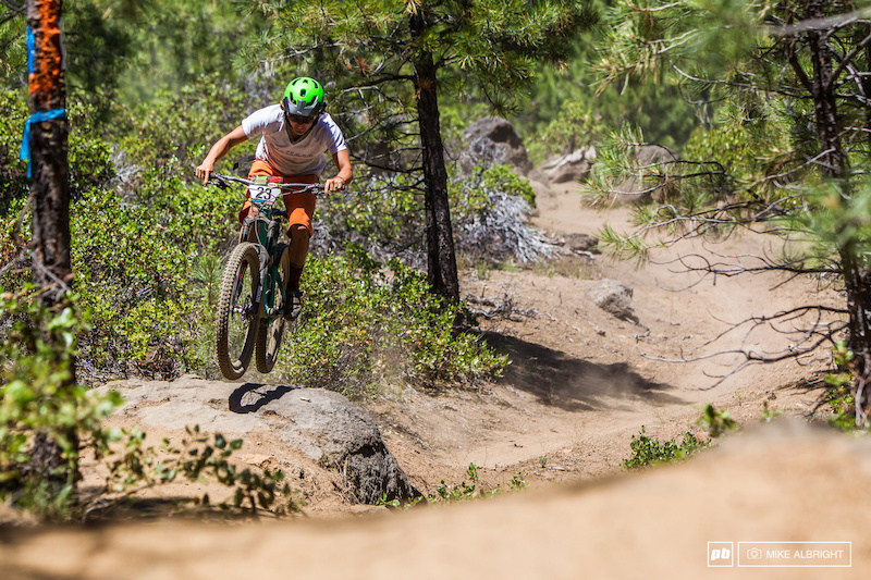 Abby Hippely Pro Women winner of the 2014 Oregon Enduro in Bend.