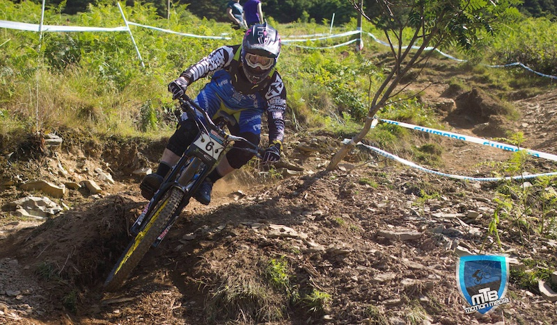 on his way to getting second place at Llangollen BDS. The gnarliest track in the uk, and definitely one of the hardest race tracks in the world.