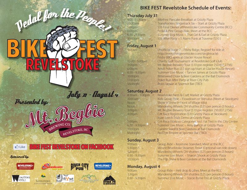 Revelstoke Bike Fest Poster