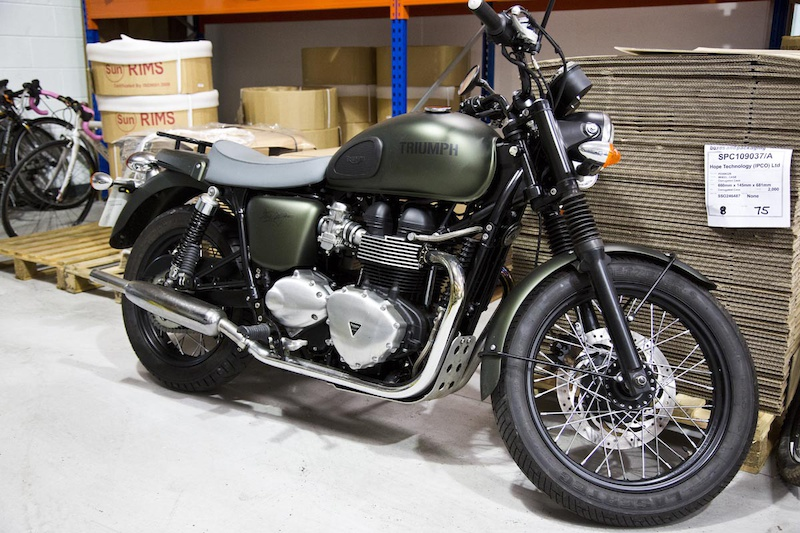 Hope s founders Simon and Ian are passionate motorbike enthusiasts - here s a restored Triumph