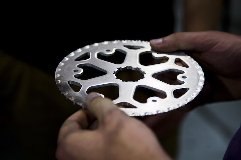 Creating their brand new chainring