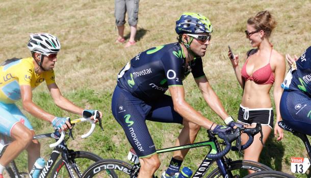 July 21, 2014 – Veteran Spanish rider Alejandro Valverde vowed Monday not to give up hope of winning the Tour de France despite Vincenzo Nibali's commanding lead... Photo credit © AFP/Yuzuru Sunada