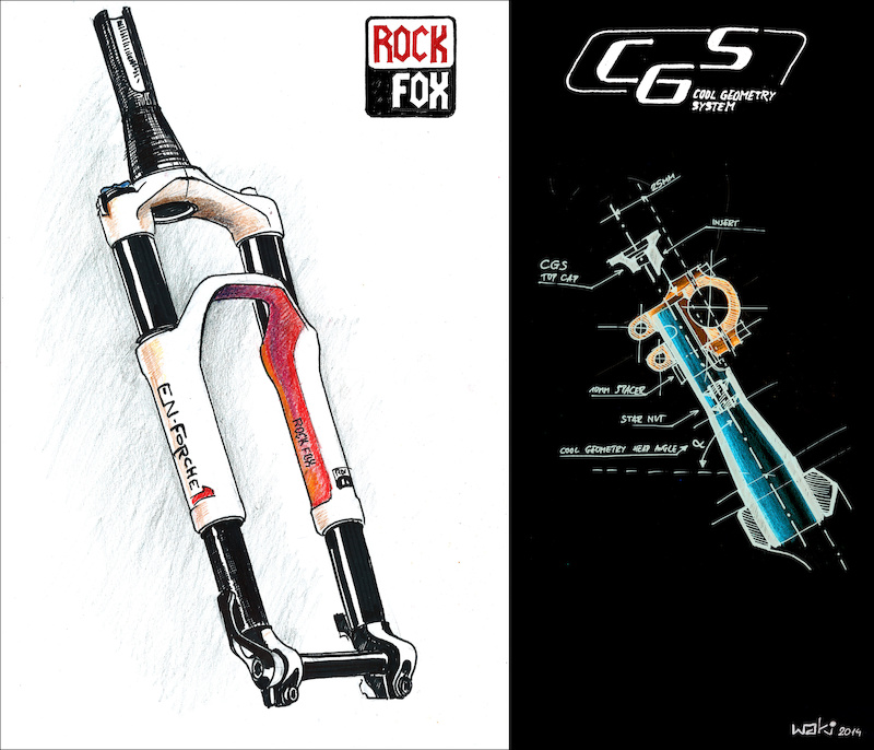 Straight from Suspi-con in San Diego. The new STD USD hybrid fork from Rock Fox. EN-Forche 1