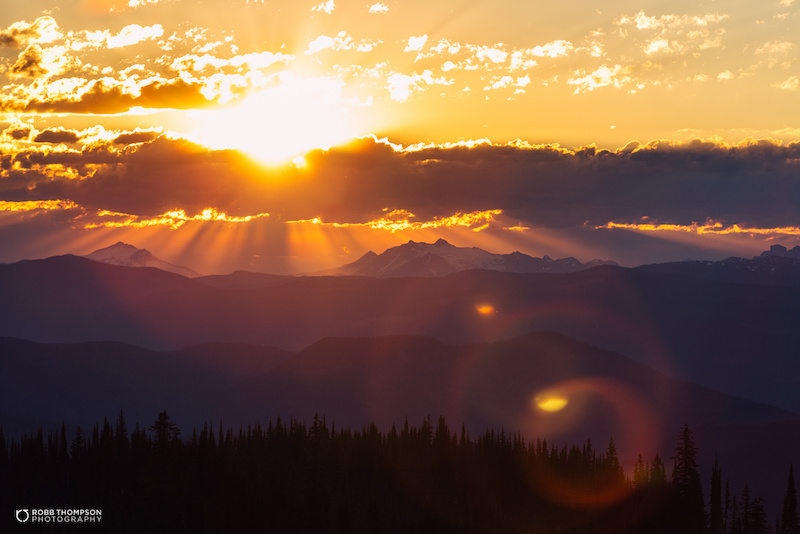 5 13 sunrise from Silver Star overlooking the Monashee Mountains