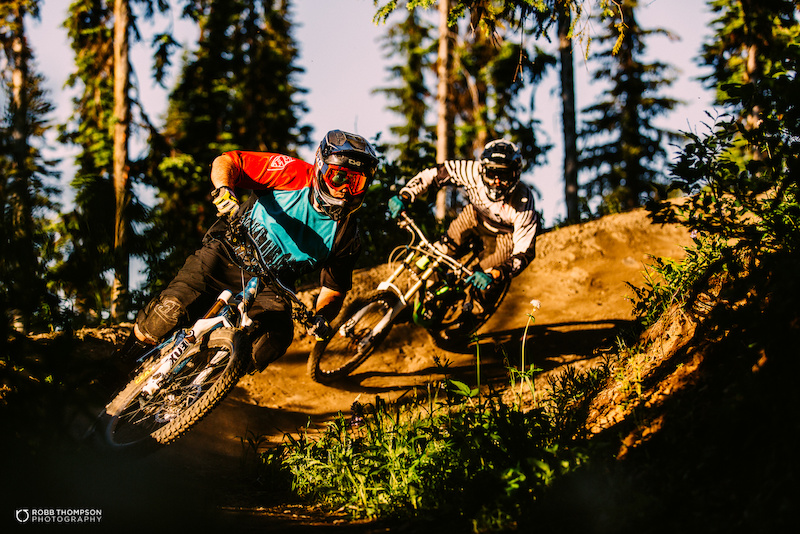 Silver Star bike park images.
