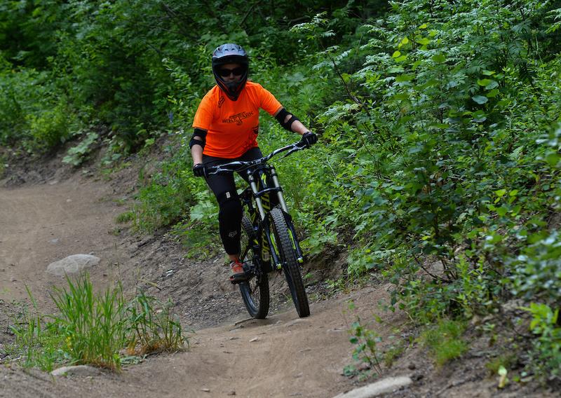 Nicole Miller rides Tenderfoot in the Steamboat Bike Park.