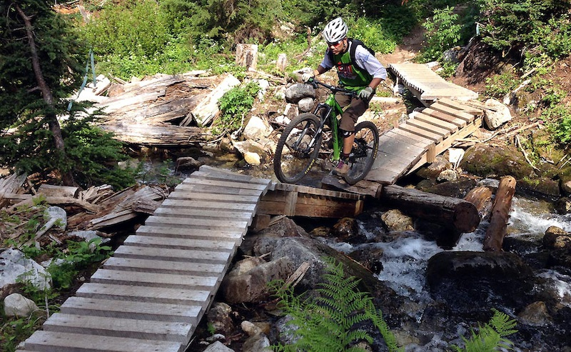 Revelstoke riding Martha Creek MacPherson