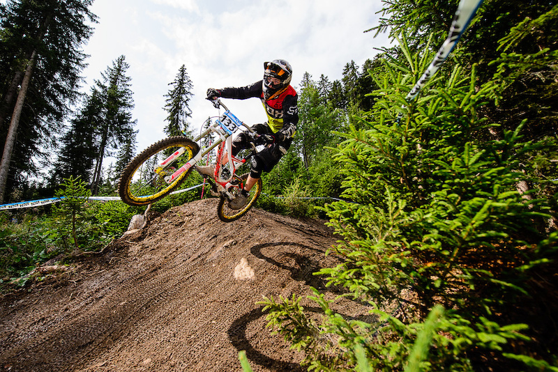 KRUEGER Felix of Germany races down the downhill track of the Bikepark Serfaus-Fiss-Ladis during the Kona MTB Festival Serfaus-Fiss-Ladis.ROOKIES in Tyrol Austria on August 10 2014. Free image for editorial usage only Photo by Felix Sch ller.