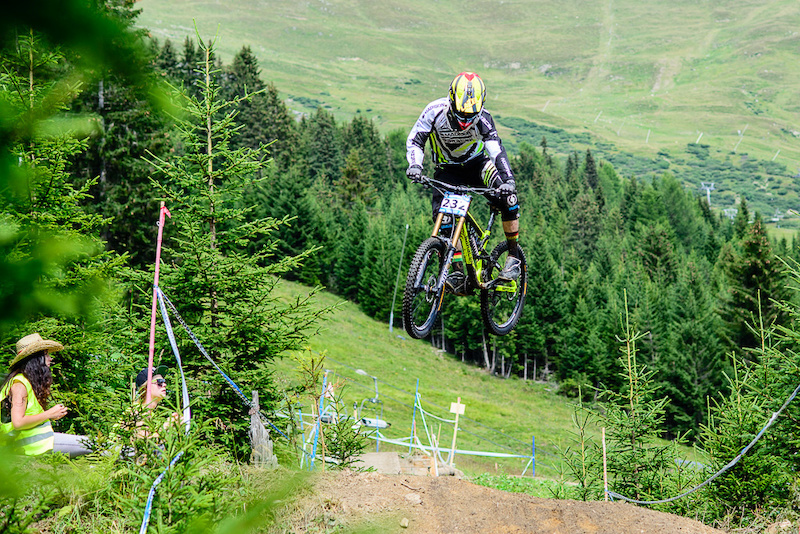 TENNYSON Jack of Great Britain races down the downhill track of the Bikepark Serfaus-Fiss-Ladis during the Kona MTB Festival Serfaus-Fiss-Ladis.ROOKIES in Tyrol Austria on August 10 2014.Free image for editorial usage only Photo by Felix Sch ller.