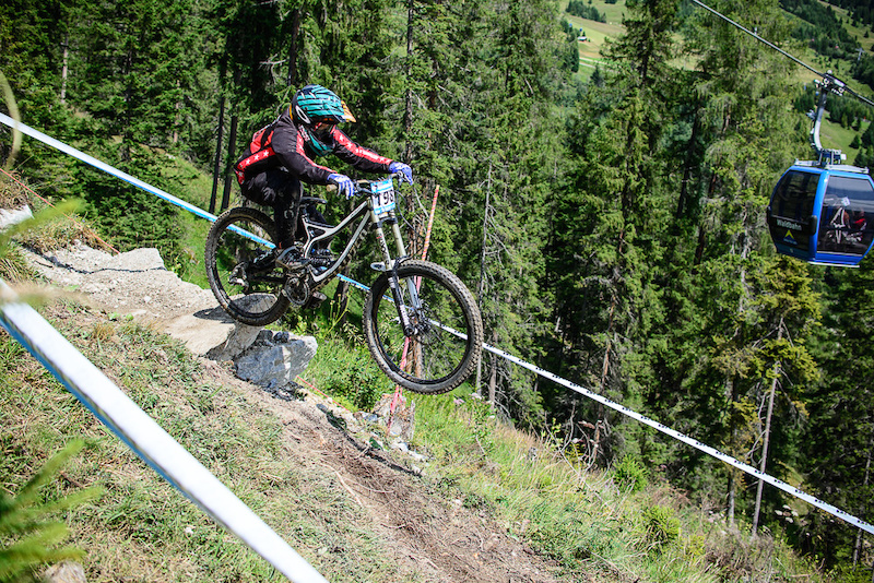 WIDHALM Lorenz of Austria races down the downhill track of the Bikepark Serfaus-Fiss-Ladis during the Kona MTB Festival Serfaus-Fiss-Ladis.ROOKIES in Tyrol Austria on August 10 2014. Free image for editorial usage only Photo by Felix Sch ller.