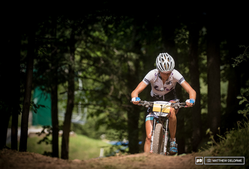 Jolanda Neff couldn't keep the the winning streak alive today and finished fourth.