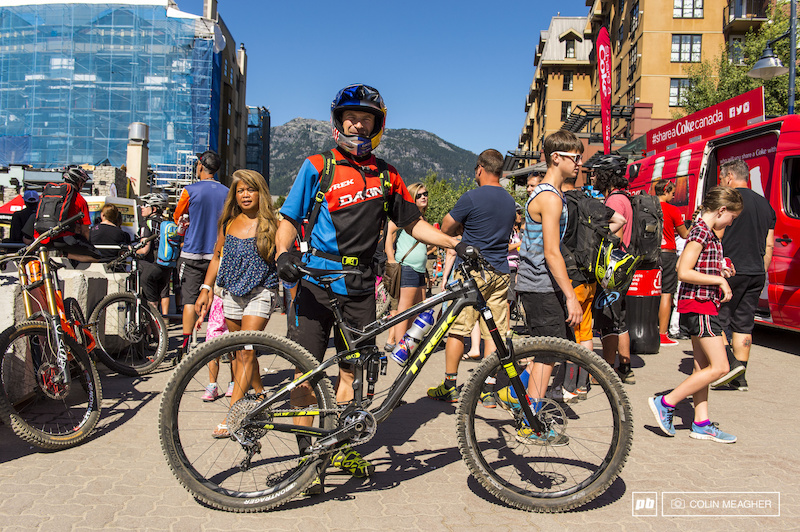 racing for the win in the 2014 Crankworx Enduro held in Whistler.