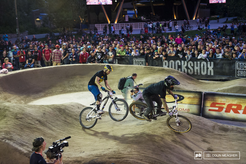 BMX vs 4X, with Barry Nobles taking the win over reigning world 4X champ, Joost Wickman.